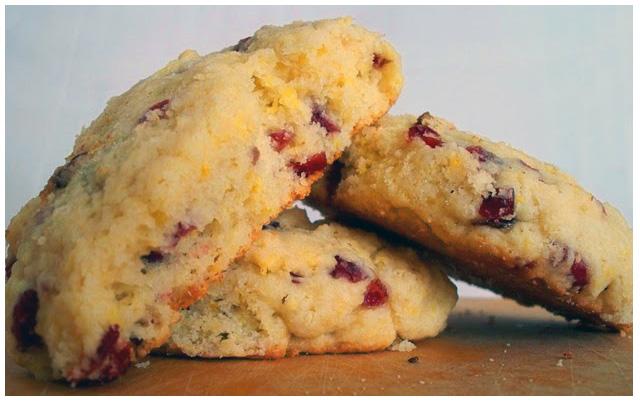 Lemon Cranberry Scones Recipe — Dishmaps
