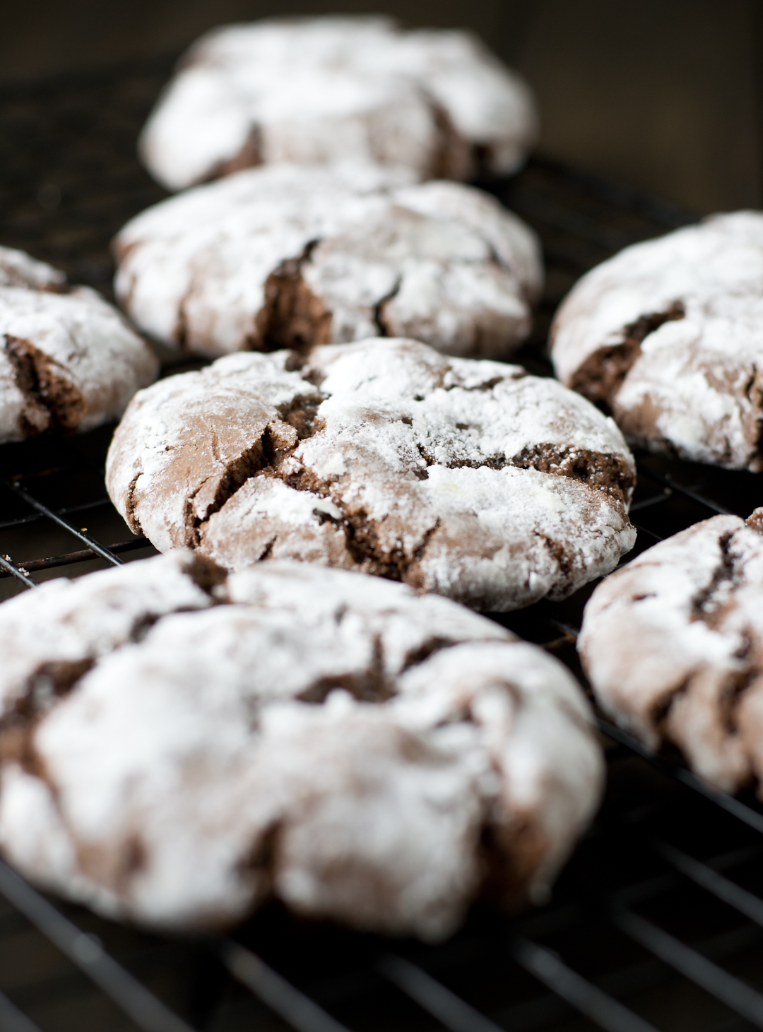 Spiced Chocolate Crinkle Cookies | The Catalyst: Cupcakes